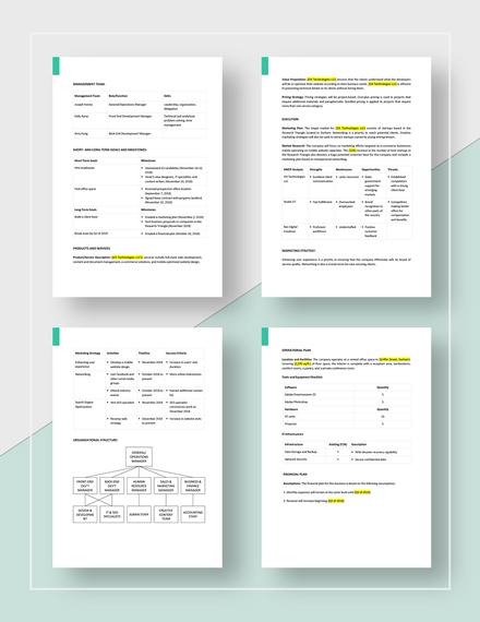 Simple Website Business Plan