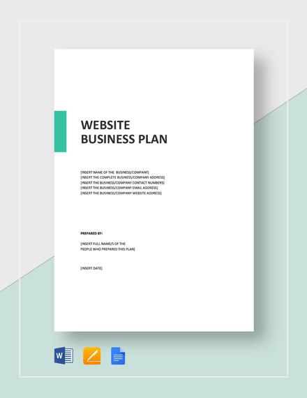 Website Business Plan Template
