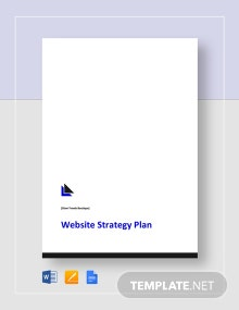 Website Strategy Plan Template
