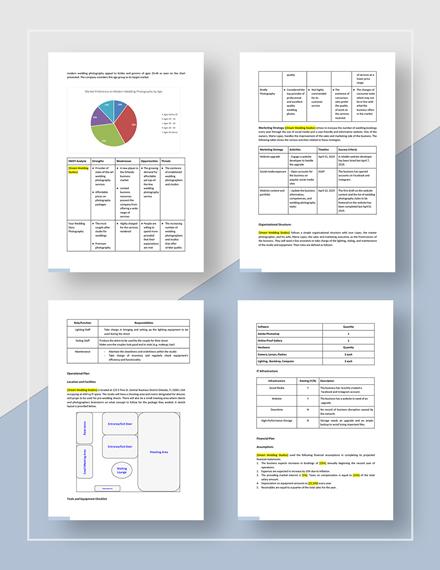 Sample Wedding Photography Business Plan