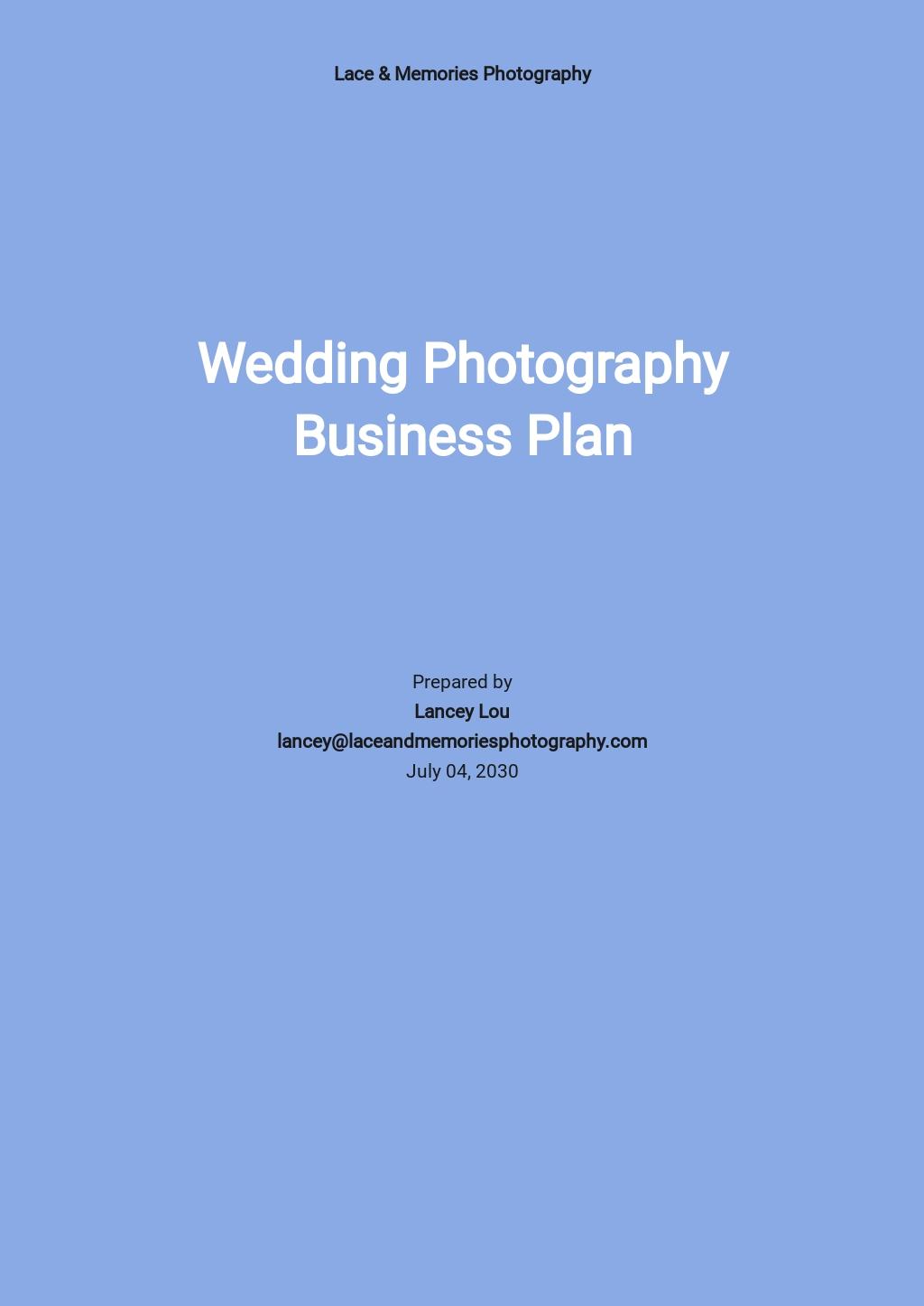 Wedding Photography Business Plan Template.jpe