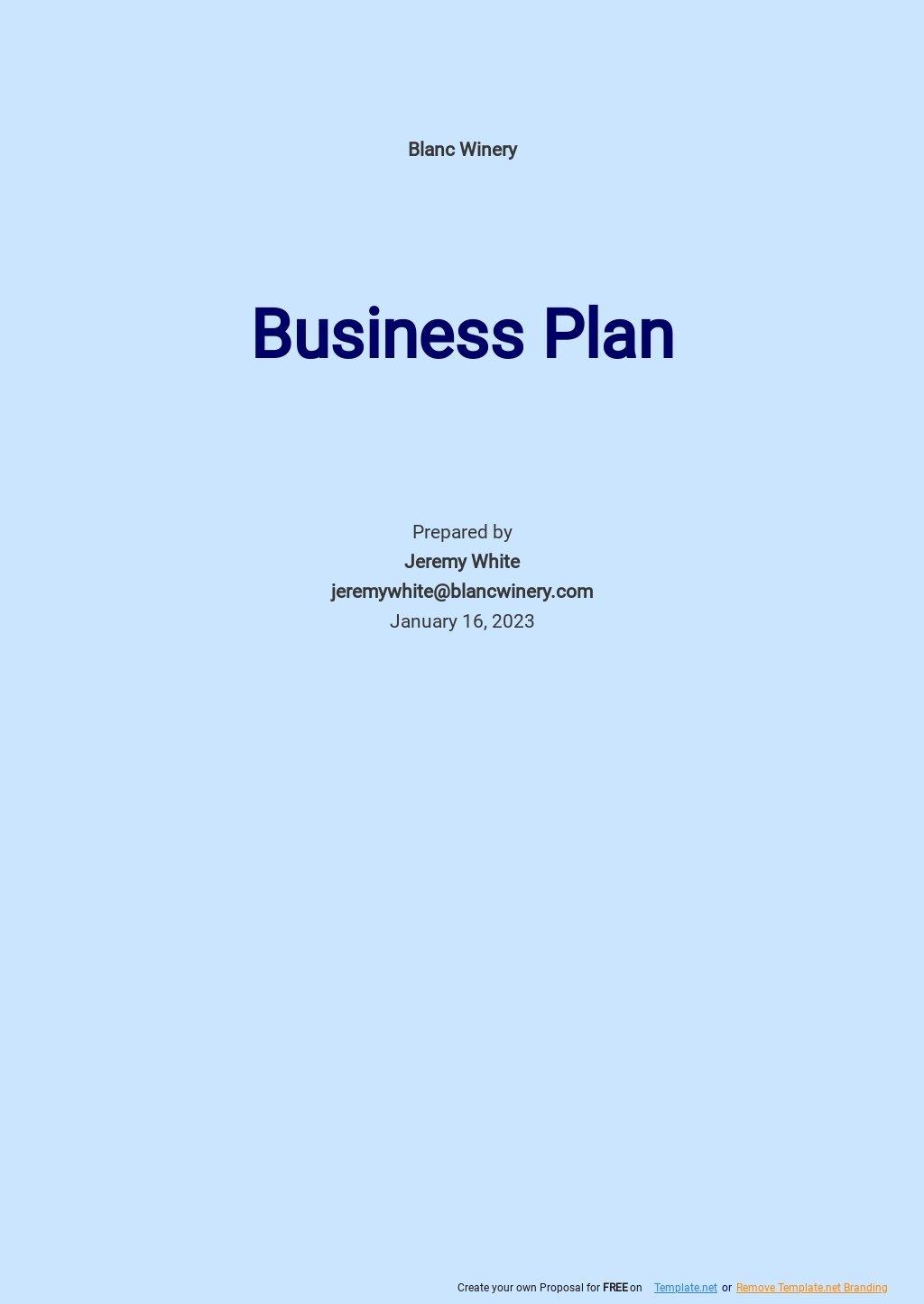 Wine/Winery Business Plan Template.jpe