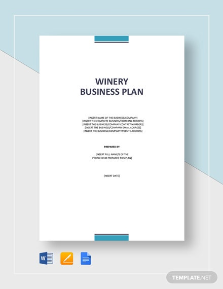 Wine/Winery Business Plan Template