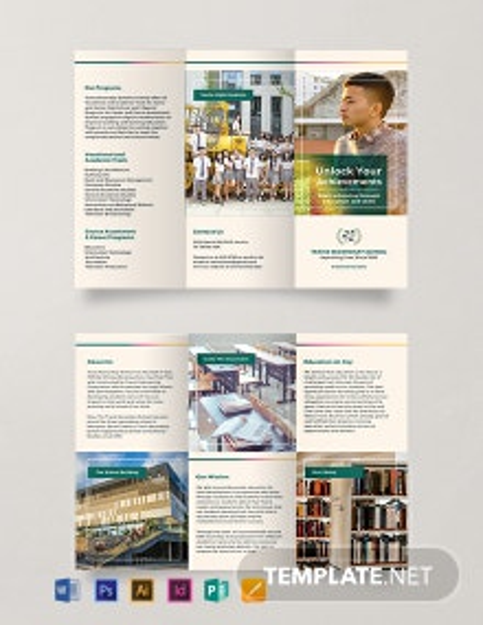 Free Junior High School Brochure Template