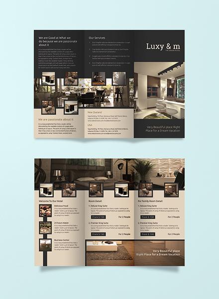 hotel tri folding brochure 440px
