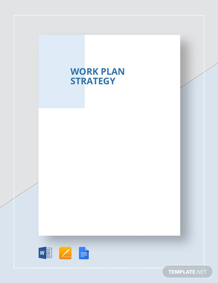 Work Plan Strategy Template