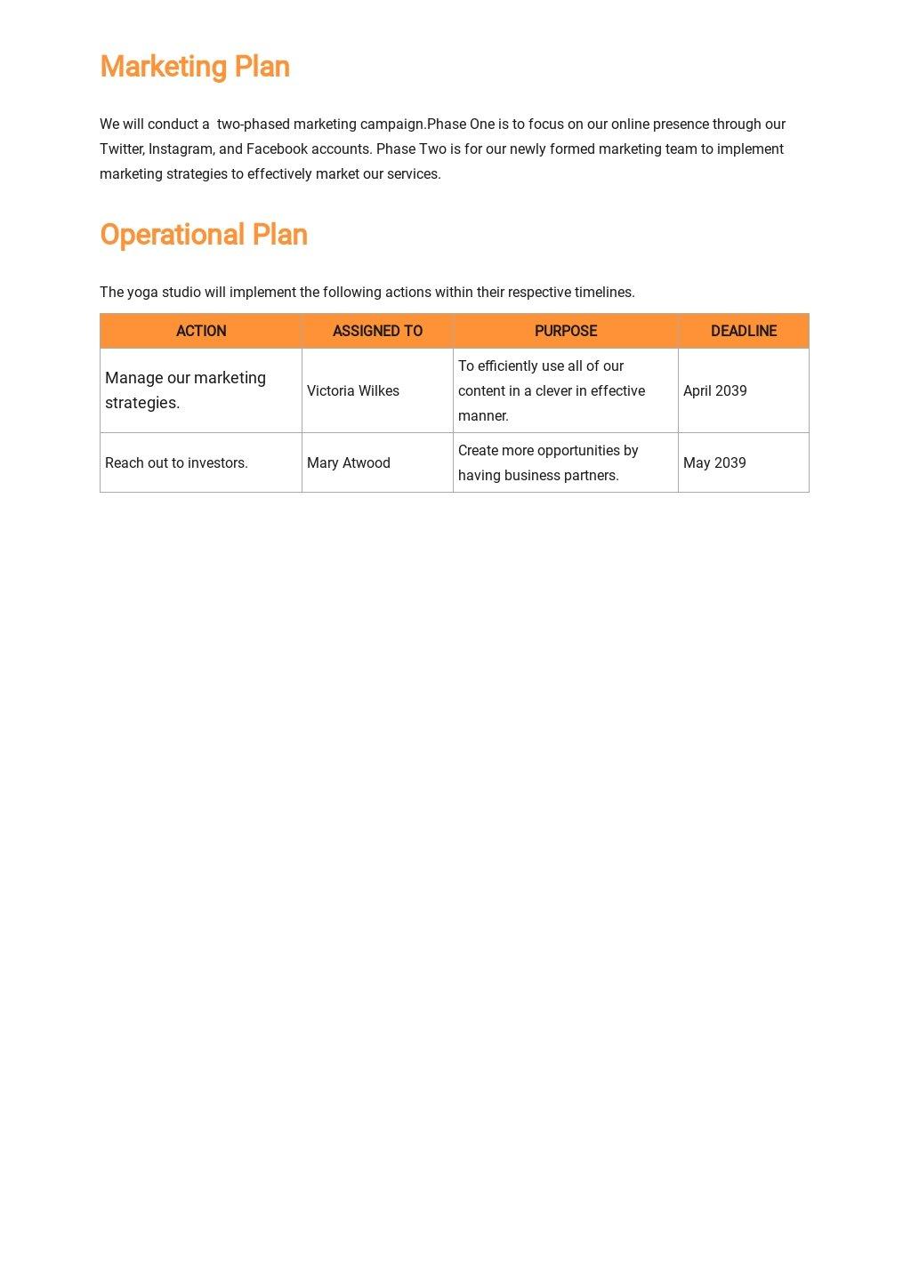 Yoga Studio Business Plan Template 4.jpe