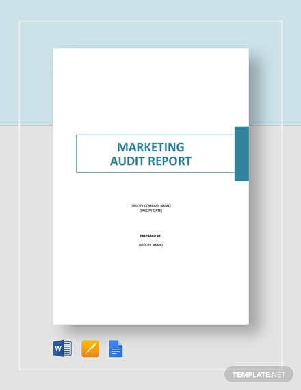 marketing audit report
