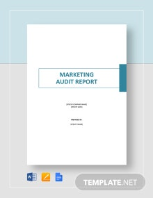 Marketing Audit Report Template