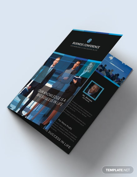 Free Conference Bifold Brochure Template