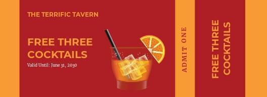 Bar Drink Ticket Template