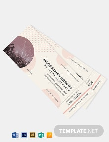 Bash Party Event Ticket Template