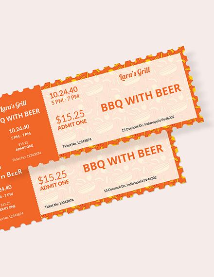 BBQ Food Ticket Download
