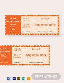 BBQ Food Ticket Template