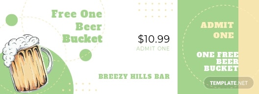 Beer Event Drink Ticket Template