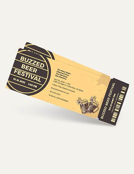 Beer Festival Ticket Download