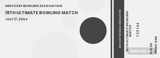 Bowling Event ticket template