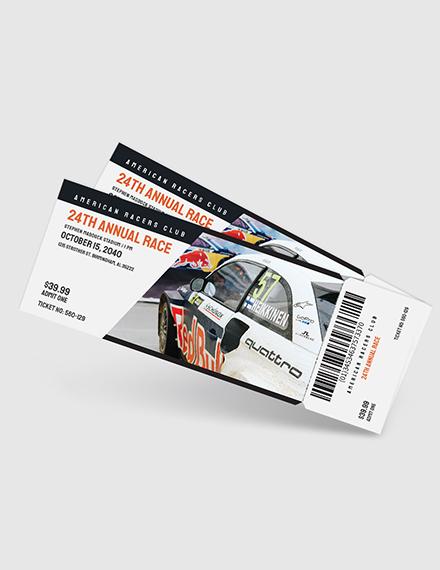 Car Racing Ticket Download