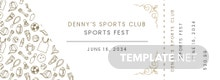 Elegant Sports Ticket Template