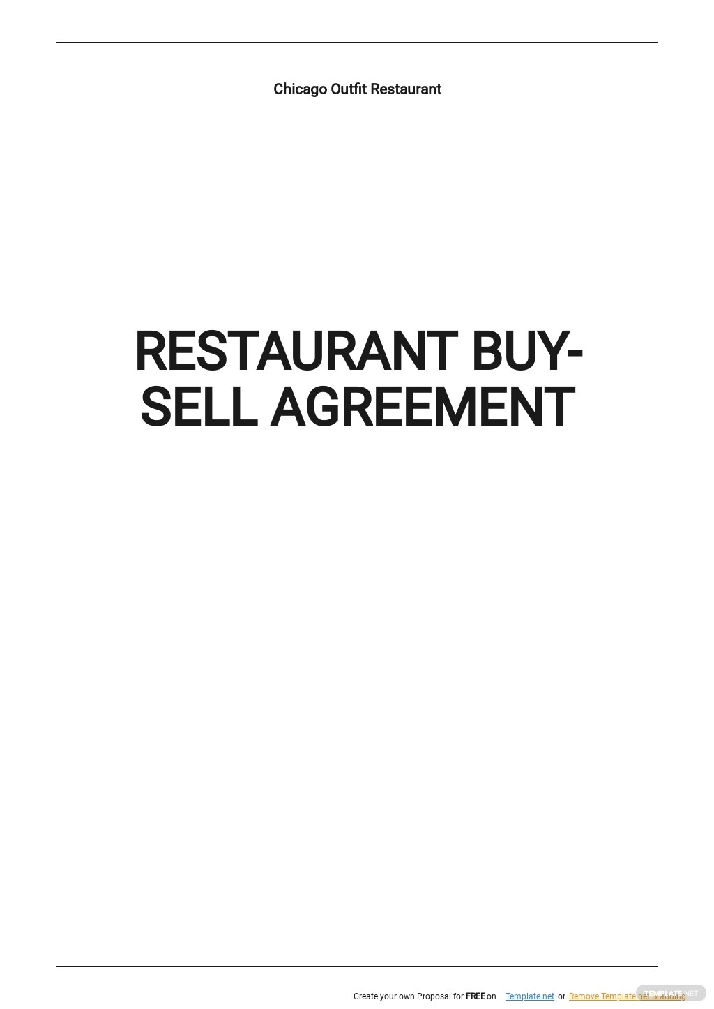 Restaurant Buy Sell Agreement Template.jpe