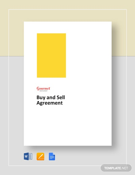 Restaurant Buy Sell Agreement Template