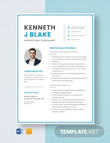 Architect Assistant Resume Template