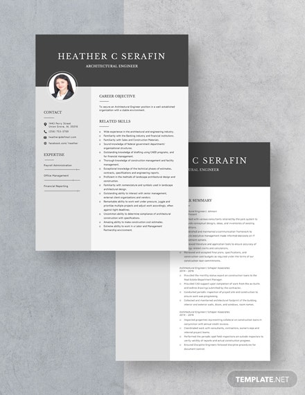 Architectural Engineer Resume Download