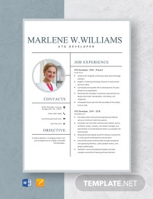 ATG Developer Resume Template