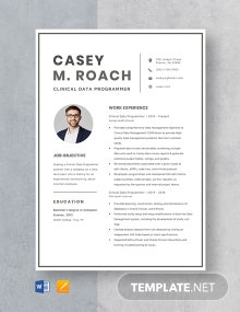 Clinical Data Programmer Resume Template