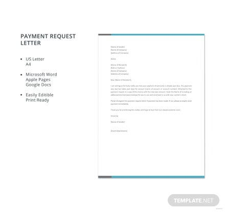 Free Payment Request Letter Template