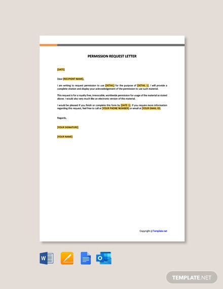 Free Permission Request Letter Template