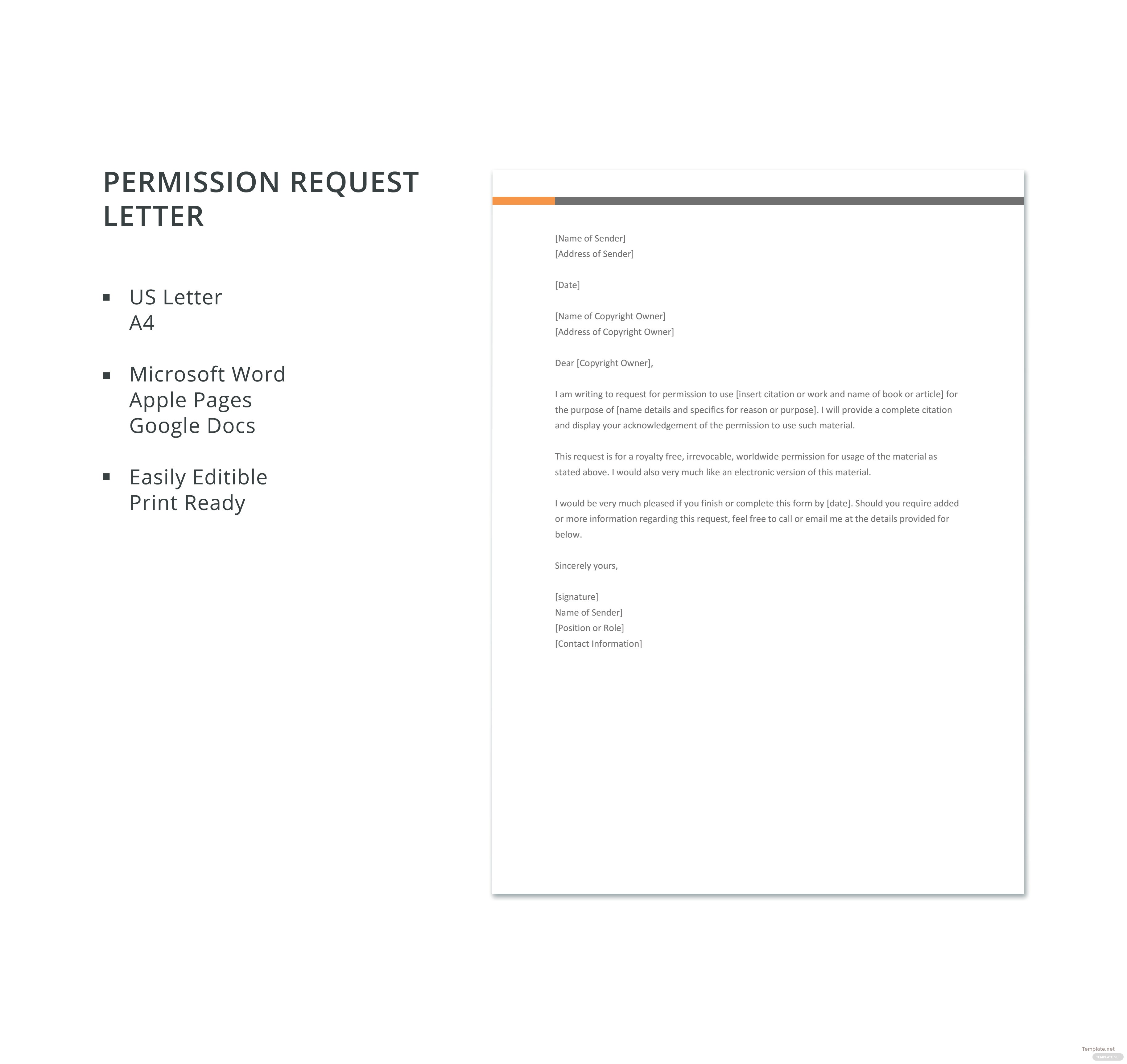 Free permission request letter template in microsoft word apple click to see full template free permission request letter spiritdancerdesigns Images