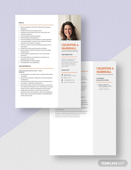Clinical Research Director Resume Download