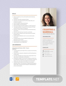 Clinical Research Director Resume Template