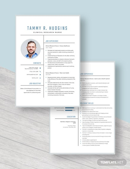 Clinical Research Nurse Resume Download