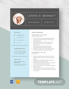 Clinical Researcher Resume Template