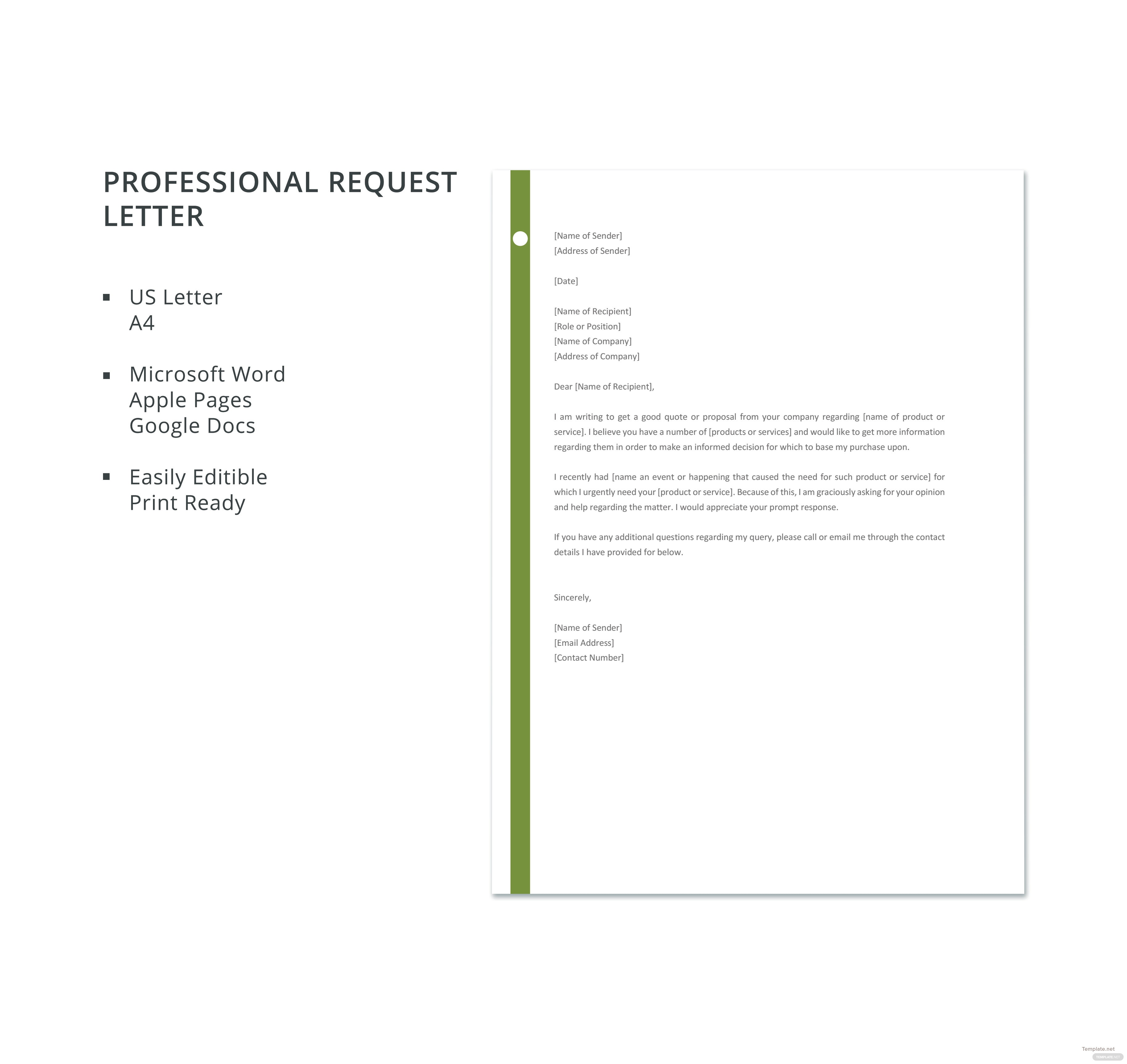 Letter Of Purchase Request day planner template free service