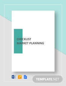 Checklist Market Planning Template