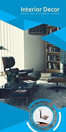 Free Creative Interior Decor Brochure Template