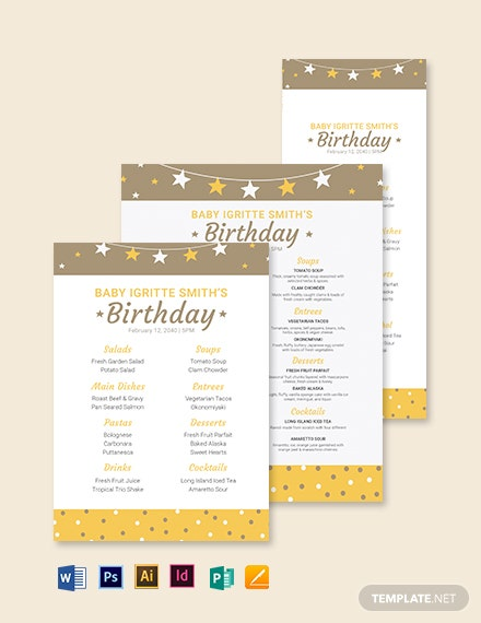 toddler birthday menu template 1