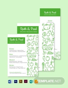 Vegan Wedding Menu Template
