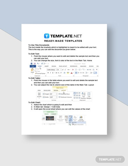 Letter Template of Intent for Purchase Instructions