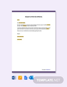 Free Request Letter for Approval Template