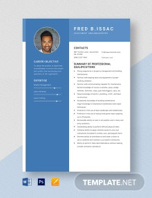 Apartment Grounds Keeper Resume Template