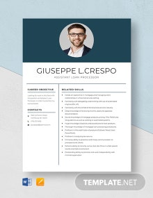 Assistant Loan Processor Resume Template