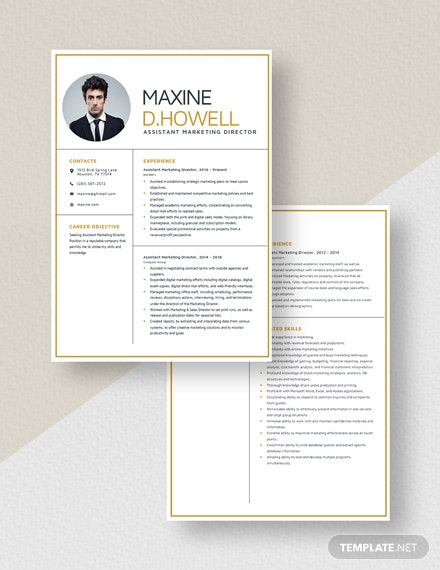 Assistant Marketing Director Resume Download