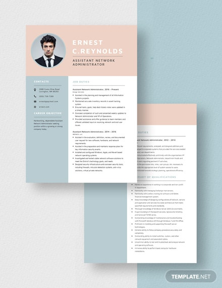 Assistant Network Administrator Resume Download
