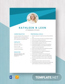 Attendance Officer Resume Template