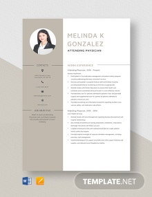Attending Physician Resume Template