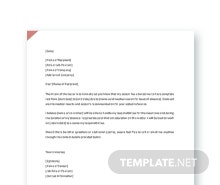 Free Request Letter for Leave Template